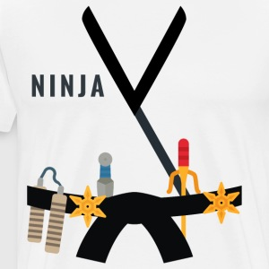Ninja Costume Halloween Men Women Kids/Youth - Men's Premium T-Shirt