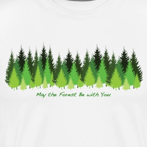 May the Forest Be with You - Men's Premium T-Shirt