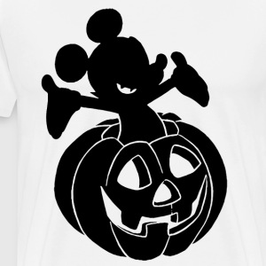Disney Mickey Mouse Halloween Pumpkin T shirt - Men's Premium T-Shirt