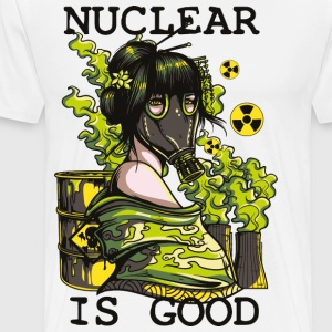 Nuclear is good - geisha with gasmask sarcastic - Men's Premium T-Shirt