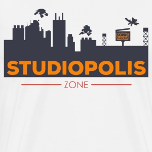 Official Sonic Mania Welcome to Studiopolis - Men's Premium T-Shirt