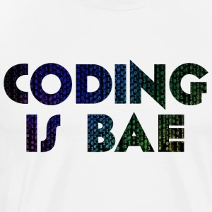 coding is bae - Men's Premium T-Shirt