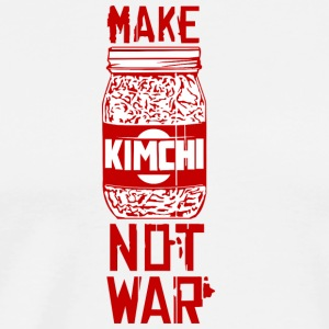 Make Kimchi Not War Funny Cool Nerd Geek - Men's Premium T-Shirt