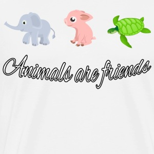 Animals are friends - Men's Premium T-Shirt