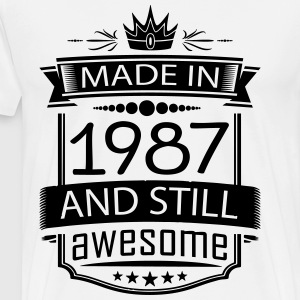 Made In 1987 And Still Awesome - Men's Premium T-Shirt