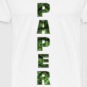 Paper – Vertical Design - Men's Premium T-Shirt
