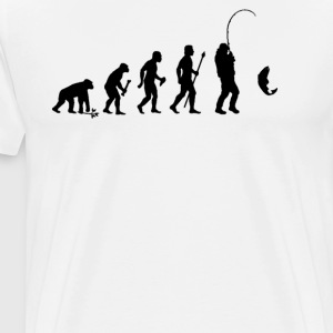Evolution Of Man and Fishing - Men's Premium T-Shirt