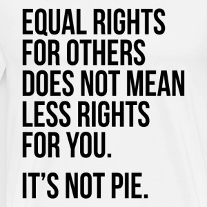 Equal rights for others does not mean less rights - Men's Premium T-Shirt