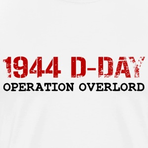 1944 D-Day Operation Overlord (Red) - Men's Premium T-Shirt