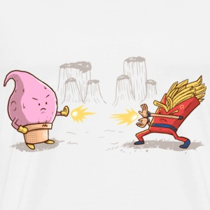Majin Buu Cream Vs Goku Potato T-Shirt Limited - Men's Premium T-Shirt