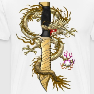 Bowie Tiger Tooth Dragon - Men's Premium T-Shirt