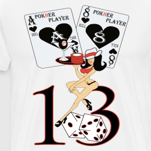 POKHER PLAYER GIRL 13 - Men's Premium T-Shirt