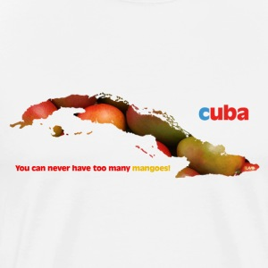 cuba mango visual - Men's Premium T-Shirt
