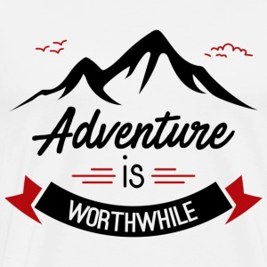 adventure is worthwhile - Men's Premium T-Shirt