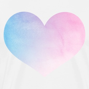Pastel Watercolor Love Heart Shirt - Men's Premium T-Shirt