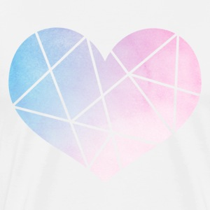 Line Abstract Heart Shirt - Men's Premium T-Shirt