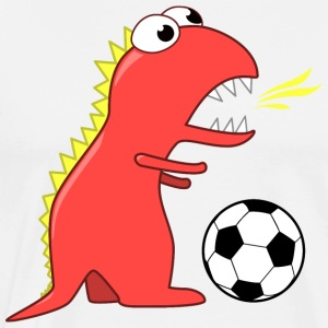 Funny Dinosaur Soccer Player - Men's Premium T-Shirt