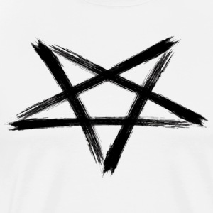 Large Satanic Black Pentagram - Men's Premium T-Shirt