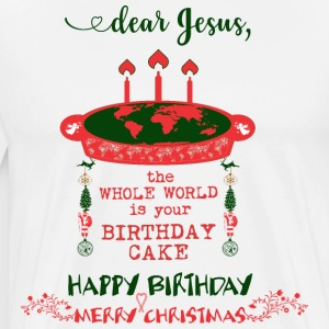 Dear JESUS - Birthday Cake - Merry Christmas - Men's Premium T-Shirt
