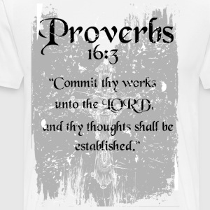 Proverbs 16 3 - Men's Premium T-Shirt