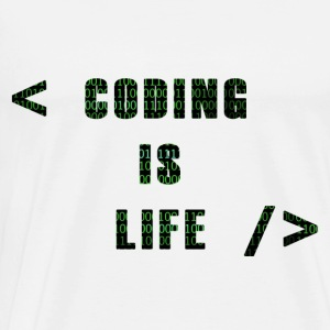 Coding Is Life - Men's Premium T-Shirt