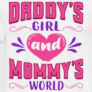Daddy s girl and mommy's world t-shirts - Men's Premium T-Shirt