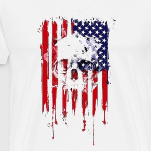 American Flag Skull 4th of July graphic Collection - Men's Premium T-Shirt