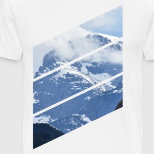 Mountain Diagonals - Men's Premium T-Shirt