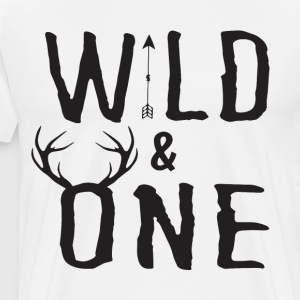 Wild One Tee First Birthday Shirt Baby Boy Birth - Men's Premium T-Shirt