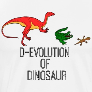 D evolution of Dinosaur creature - Men's Premium T-Shirt