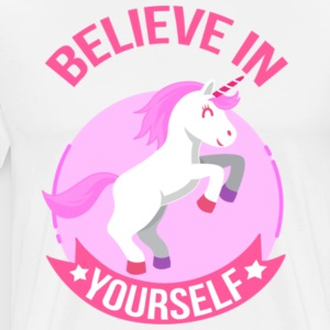 Unicorn Believe In Yourself Gift Shirt Pre - Men's Premium T-Shirt