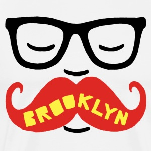 Brooklyn Mustache - Men's Premium T-Shirt