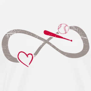 Infinite Love ∞ I Love Baseball ∞ American Sport - Men's Premium T-Shirt