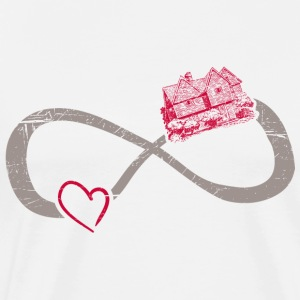 Infinite ∞ I Love Architecture ∞ Traditional House - Men's Premium T-Shirt
