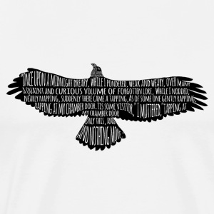 The Raven by Edgar Allan Poe Typography - Men's Premium T-Shirt
