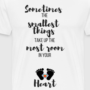 Sometimes the Smallest Things... (Rainbow Baby) - Men's Premium T-Shirt