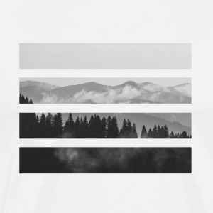 Striped Mountains - Men's Premium T-Shirt