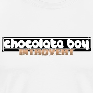 TripleTees ChocoBoy Introvert - Men's Premium T-Shirt