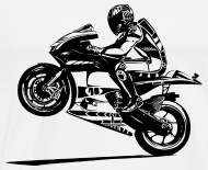 Hot Rider Bikers Racing Sport Motorcycling   Menu0027s Premium T
