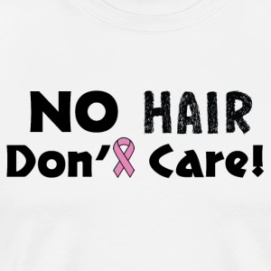 No Hair Don't Care Breast Cancer Awareness - Men's Premium T-Shirt
