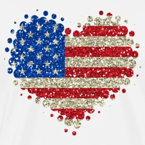 I Love America - United States USA Heart American - Men's Premium T-Shirt