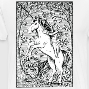 Unicorn Ride A Horse Gift Shirt Preminium - Men's Premium T-Shirt
