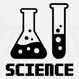 Science – Test Tube and Conical Flask - Men's Premium T-Shirt
