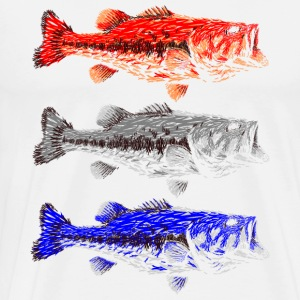 ON THE PURSUIT 3 LARGE MOUTH BASS UPSCALE LURES - Men's Premium T-Shirt