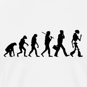 Evolution of Man to Robot - Men's Premium T-Shirt