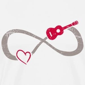 Infinite Love ∞ I Love Ukulele Music ∞ Red Uke - Men's Premium T-Shirt