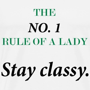 lady rule no1 - Men's Premium T-Shirt
