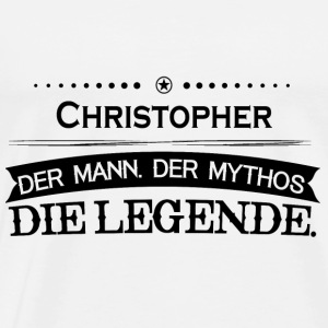 Mythos Legende Vorname Christopher - Men's Premium T-Shirt