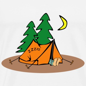 camping campfires camper scouts tent teepee cookin - Men's Premium T-Shirt