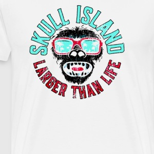 Skull Island Awesome Hipster King Kong - Men's Premium T-Shirt